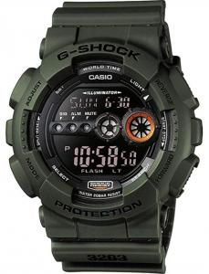Casio G-Shock GD-100MS-3ER, Nero e Verde